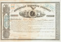 Miscellaneous:Ephemera, Henry Wells and William Fargo Signed American Express StockCertificate....