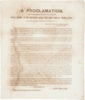 Miscellaneous:Broadside, [Confederate States]. Leonidas Polk Broadside Pardoning ConfederateSoldiers....