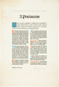 Autographs:U.S. Presidents, Harry S. Truman Proclamation Signed...