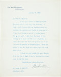 Autographs:U.S. Presidents, Woodrow Wilson Typed Letter Signed....