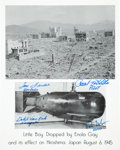 Autographs:Military Figures, [Enola Gay]. Photograph Signed by Four Crew Members of the EnolaGay....