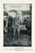 Autographs:Celebrities, Charles Lindbergh Printed Photograph Signed...