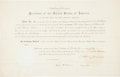 Autographs:U.S. Presidents, Andrew Johnson Appointment Signed...