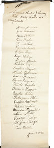 Autographs:Military Figures, [Tokyo Trials]. Second World War Japanese Prisoners of War Scroll....
