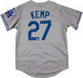 "Baseball Collectibles:Uniforms, Matt Kemp ""The Bison"" Signed Los Angeles Dodgers Jersey...."