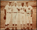 Baseball Collectibles:Photos, Joe DiMaggio and Mickey Mantle Multi Signed Photograph....