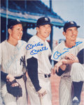 Autographs:Others, 1980's Whitey Ford, Mickey Mantle, Billy Martin Signed Photograph....
