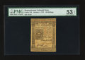 Colonial Notes:Pennsylvania, Pennsylvania October 1, 1773 50s PMG About Uncirculated 53 EPQ.....
