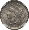Three Cent Nickels: , 1866 3CN MS65 NGC. NGC Census: (65/55). PCGS Population (69/23).Mintage: 4,801,000. Numismedia Wsl. Price for problem free...