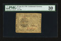 Colonial Notes:Continental Congress Issues, Continental Currency July 22, 1776 $7 PMG Very Fine 30.. ...