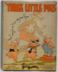 Books:Children's Books, [Walt Disney Studios]. Three Little Pigs. New York: BlueRibbon, [1933]. First edition. Quarto. Publisher's bind...