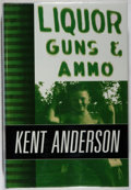 Books:Mystery & Detective Fiction, Kent Anderson. SIGNED/LIMITED. Liquor, Guns, & Ammo.McMillan, 1998. First edition, first printing. Limited to 150...