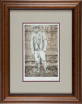 Baseball Collectibles:Others, Rube Waddell Framed Etching. ...
