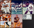 Football Collectibles:Photos, Signed Color Photos & FDC by Football Legends Lot of (6). ...