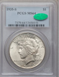 Peace Dollars: , 1935-S $1 MS64 PCGS. CAC. PCGS Population (1357/731). NGC Census:(887/480). Mintage: 1,964,000. Numismedia Wsl. Price for ...
