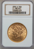 Liberty Double Eagles: , 1904-S $20 MS63 NGC. NGC Census: (7965/3351). PCGS Population(5987/3150). Mintage: 5,134,175. Numismedia Wsl. Price for pr...