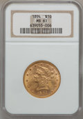 Liberty Eagles: , 1894 $10 MS61 NGC. NGC Census: (11617/19422). PCGS Population(5849/8596). Mintage: 2,470,778. Numismedia Wsl. Price for pr...