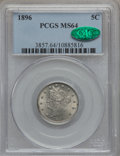 Liberty Nickels: , 1896 5C MS64 PCGS. CAC. PCGS Population (111/71). NGC Census:(95/52). Mintage: 8,842,920. Numismedia Wsl. Price for proble...