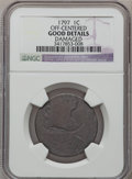Large Cents, 1797 1C Reverse of 1796, Plain Edge -- Off-Centered, Damaged -- NGCDetails. Good. NGC Census: (0/3). PCGS Population (...