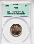 Proof Liberty Nickels: , 1889 5C PR65 PCGS. PCGS Population (205/89). NGC Census: (200/99).Mintage: 3,336. Numismedia Wsl. Price for problem free N...