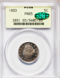 Proof Liberty Nickels: , 1893 5C PR65 PCGS. CAC. PCGS Population (85/26). NGC Census:(106/44). Mintage: 2,195. Numismedia Wsl. Price for problem fr...