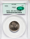 Proof Liberty Nickels: , 1894 5C PR65 PCGS. CAC. PCGS Population (111/15). NGC Census:(111/51). Mintage: 2,632. Numismedia Wsl. Price for problem f...
