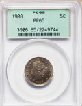 Proof Liberty Nickels: , 1908 5C PR65 PCGS. PCGS Population (106/43). NGC Census: (112/76).Mintage: 1,620. Numismedia Wsl. Price for problem free N...