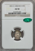 Seated Half Dimes: , 1853-O H10C Arrows AU58 NGC. CAC. NGC Census: (16/41). PCGSPopulation (13/46). Mintage: 2,200,000. Numismedia Wsl. Price f...