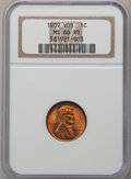 Lincoln Cents: , 1909 VDB 1C MS66 Red NGC. NGC Census: (1434/104). PCGS Population(1988/212). Mintage: 27,995,000. Numismedia Wsl. Price fo...