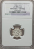 Barber Dimes: , 1900-O 10C -- Improperly Cleaned -- NGC Details. AU. NGC Census:(2/54). PCGS Population (4/59). Mintage: 2,010,000. Numism...