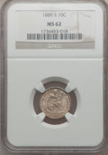 Seated Dimes: , 1889-S 10C MS62 NGC. NGC Census: (12/34). PCGS Population (11/32).Mintage: 972,678. Numismedia Wsl. Price for problem free...