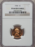 Proof Lincoln Cents, 1950 1C PR66 Red Cameo NGC. NGC Census: (89/31). PCGS Population(59/9). Numismedia Wsl. Price for problem free NGC/PCGS c...