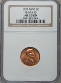 Lincoln Cents, 1972 1C DDO MS65 Red NGC. FS-033.53. NGC Census: (164/280). PCGSPopulation (287/321). Mintage: 2,933,225,000. Numismedia ...