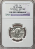 Standing Liberty Quarters: , 1919-D 25C -- Improperly Cleaned -- NGC Details. AU. NGC Census:(8/211). PCGS Population (14/341). Mintage: 1,944,000. Num...