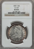Bust Half Dollars: , 1809 50C Normal Edge XF45 ★ NGC. O-103. NGC Census: (76/475). PCGSPopulation (82/261). Mint...