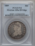 Bust Half Dollars: , 1809 50C III Edge Fine 12 PCGS. O-109a. PCGS Population (7/145).NGC Census: (6/225). Numismedia Wsl. Price for problem f...