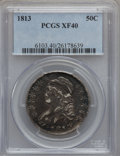 Bust Half Dollars: , 1813 50C XF40 PCGS. PCGS Population (52/391). NGC Census: (29/613).Mintage: 1,241,903. Numismedia Wsl. Price for problem f...