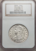 Bust Half Dollars, 1833 50C AU58 NGC. O-104. NGC Census: (307/347). PCGS Population(207/304). Mintage: 5,206,000. Numismedia Wsl. Price for p...