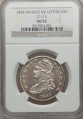 Bust Half Dollars, 1834 50C Small Date, Small Letters AU53 NGC. O-113. PCGS Population(76/373). Mintage: 0. Numismedia Ws...