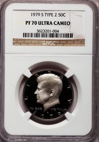 1979-S 50C Type Two PR70 Cameo NGC. NGC Census: (0). PCGS Population (0). Numismedia Wsl. Price for problem free NGC/PCG...