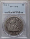 Seated Dollars: , 1846-O $1 Fine 15 PCGS. PCGS Population (5/227). NGC Census:(1/142). Mintage: 59,000. Numismedia Wsl. Price for problem fr...