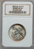 Commemorative Silver, 1935/34-D 50C Boone MS66 NGC. NGC Census: (118/57). PCGS Population(165/59). Mintage: 2,003. Numismedia Wsl. Price for pro...