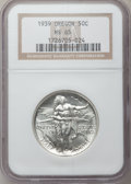 Commemorative Silver: , 1939 50C Oregon MS65 NGC. NGC Census: (229/401). PCGS Population(393/354). Mintage: 3,004. Numismedia Wsl. Price for probl...