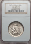 Commemorative Silver: , 1937-S 50C Texas MS67 NGC. NGC Census: (92/5). PCGS Population(81/0). Mintage: 6,637. Numismedia Wsl. Price for problem fr...