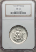 Commemorative Silver: , 1937 50C Texas MS65 NGC. NGC Census: (434/428). PCGS Population(639/436). Mintage: 6,571. Numismedia Wsl. Price for proble...