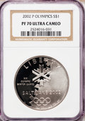 Modern Issues: , 2002-P $1 Olympics Silver Dollar PR70 Ultra Cameo NGC. NGC Census:(183). PCGS Population (61). Numismedia Wsl. Price for ...