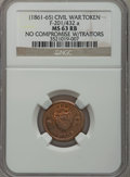 Civil War Patriotics, (Undated) No Compromise With Traitors MS63 Red and Brown NGC.Fuld-201/432a....