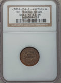 Civil War Patriotics, Undated The Federal Union MS63 Brown NGC. Fuld-219/323a.. FromThe William R. Green Collection....