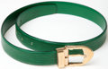 Luxury Accessories:Accessories, Heritage Vintage: Louis Vuitton Green Epi Leather Belt Size 85/34....
