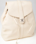 Luxury Accessories:Bags, Heritage Vintage: Chanel Crème Caviar Leather Backpack. ...